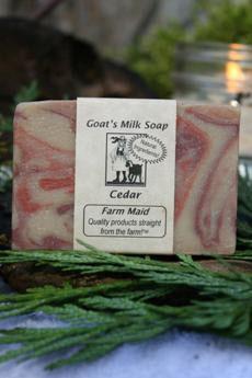 Cedar Goat's Milk Soap1