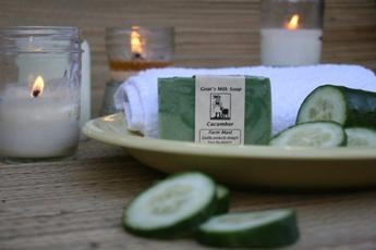 Cucumber Goat's Milk Soap2
