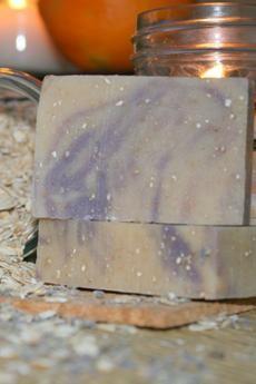 Lavender & Oats Goat's Milk Soap 1