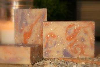 Lavender, Tea Tree, Orange & Oats Goat's Milk Soap2