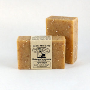 Oatmeal & Honey Unscented Goat's Milk Soap