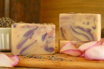 Rose Lavender Goat's Milk Soap