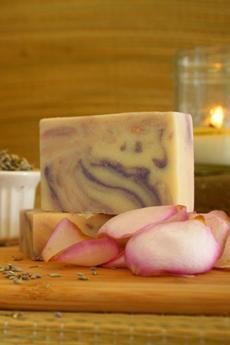 Rose Lavender Goat's Milk Soap2