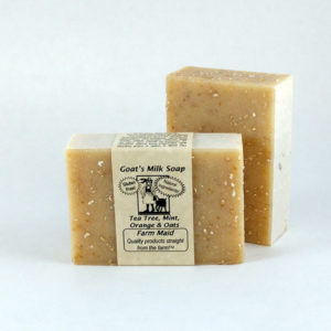 Tea Tree Mint Orange & Oats Goat's Milk Soap